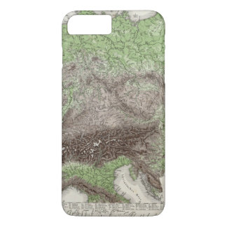 River and Mountain Map of Germany iPhone 7 Plus Case