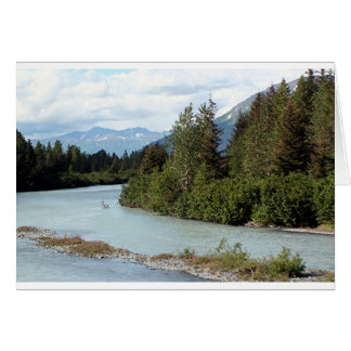 River and mountains, Alaska, USA Card