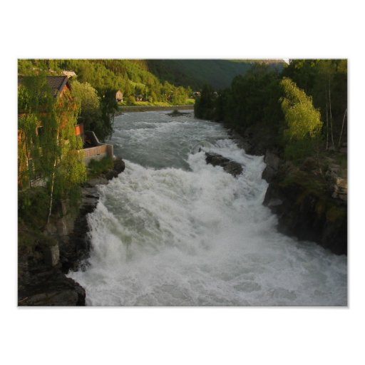 River and waterfall posters