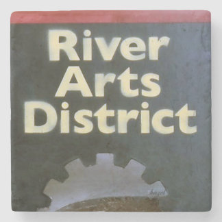 River Arts District,Asheville North Carolina, Stone Coaster