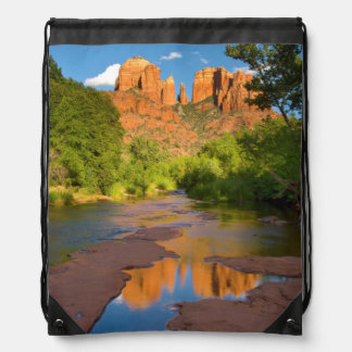 River at Red Rock Crossing, Arizona Drawstring Bag