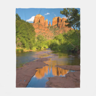 River at Red Rock Crossing, Arizona Fleece Blanket