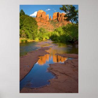 River at Red Rock Crossing, Arizona Poster