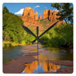 River at Red Rock Crossing, Arizona Square Wall Clock