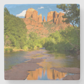River at Red Rock Crossing, Arizona Stone Beverage Coaster