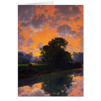 River at Scutney by Maxfield Parrish greeting card