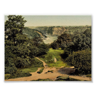 River Avon from Clifton Downs, Bristol, England cl Poster