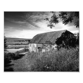 River & Barn Photographic Print