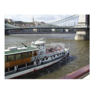 River Boat on the Danube Postcard