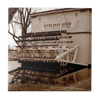 River Boat Queen Landmark Ceramic Tiles