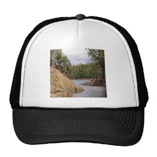 River Channel Temperate Rain Forest Canada Trucker Hat