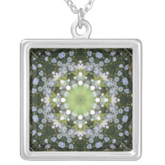 River Daisies by Moonlight Mandala Necklace