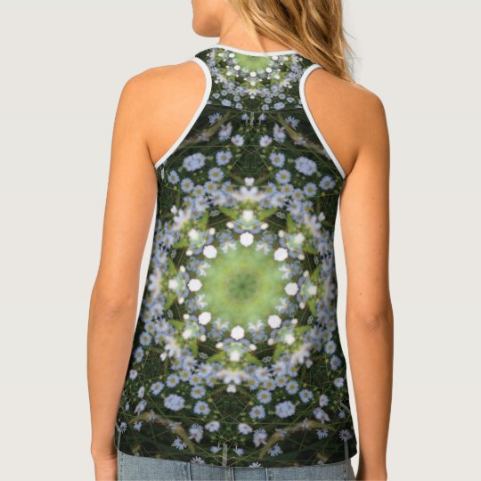 River Daisies by Moonlight Tank Top