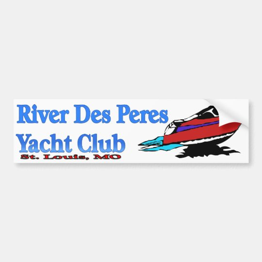 River Des Peres Yacht Club Bumper Sticker