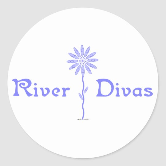 River Divas Classic Round Sticker