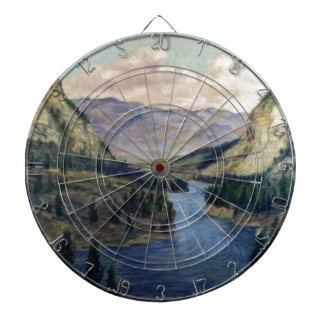 """River Flows On"" Dartboard"
