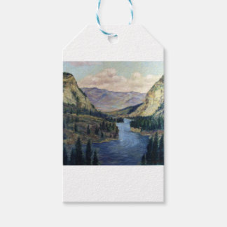 River Flows On Gift Tags