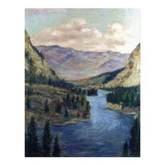 River Flows On Letterhead