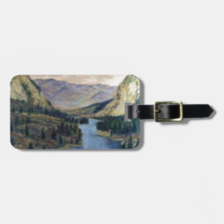 River Flows On Luggage Tag