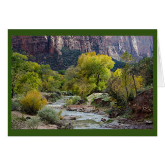 River, Forest & Nature Park Blank Greeting Card