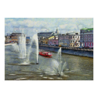 River fountains poster