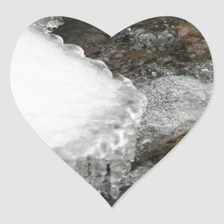 River Icicles Heart Sticker