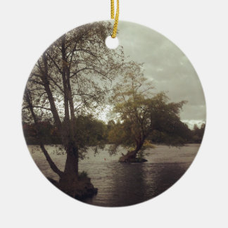 River in Eugene, OR Ceramic Ornament