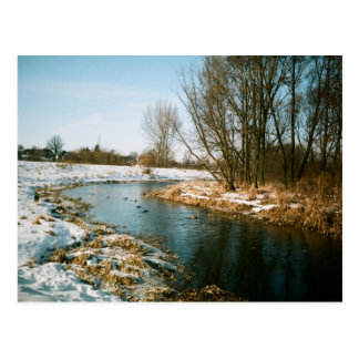 River In Lublin, Poland Postcard