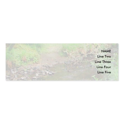 River in woodland. business card template