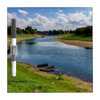 River Kupa in Sisak, Croatia Dry Erase Board