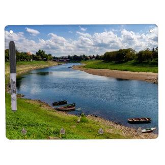 River Kupa in Sisak, Croatia Dry Erase Board With Keychain Holder