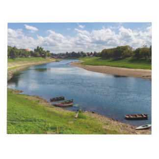 River Kupa in Sisak, Croatia Notepad