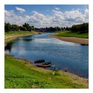 River Kupa in Sisak, Croatia Poster