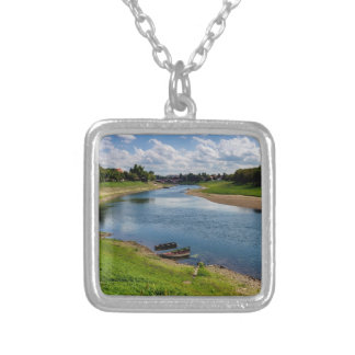 River Kupa in Sisak, Croatia Silver Plated Necklace