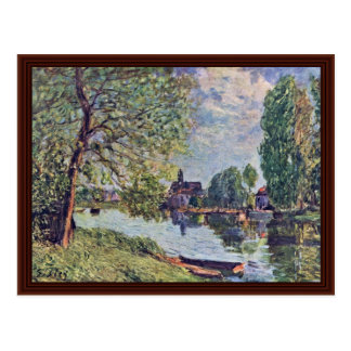 River Landscape At Moret-Sur-Loing Post Card