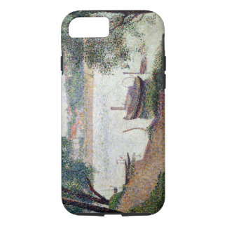 River Landscape with a boat iPhone 7 Case