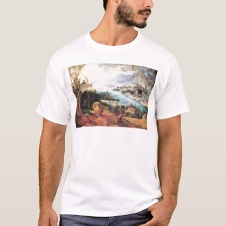 River Landscape with a sower by Pieter Bruegel T-Shirt