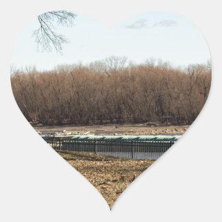 River Life Heart Sticker