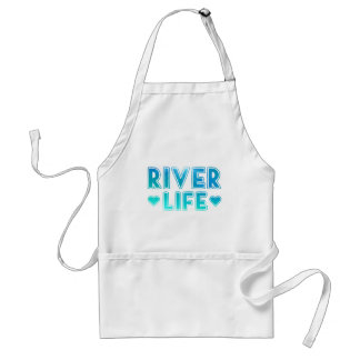 River Life with Blue and Green underwater texture Standard Apron