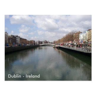 River Liffey, Dublin City, Ireland. Postcard