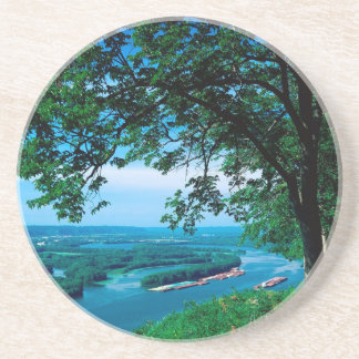 River Mississippi Mcgregor Iowa Drink Coaster