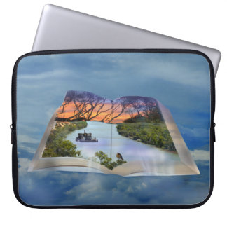River Murray, Page In A Book 15 inch Laptop Sleeve