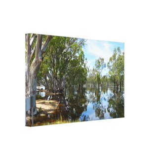 River Murray When The Floods Came, Canvas Print