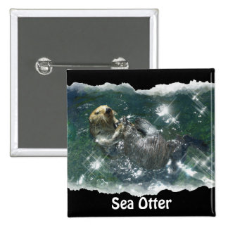 River Otter Animal-lover s Wildlife Photo Pinback Buttons