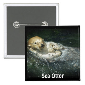 River Otter Animal-lover's Wildlife Photo Button