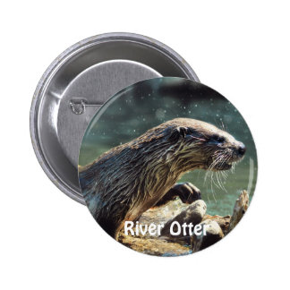 River Otter Animal-lover's Wildlife Photo Buttons
