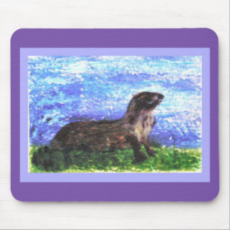 River Otter Art Mouse Pad