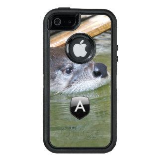 River Otter monogrammed OtterBox Defender iPhone Case
