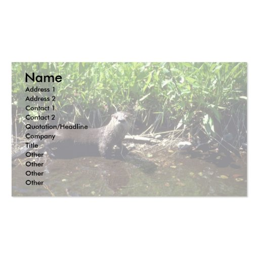 River Otter-summer Double-Sided Standard Business Cards (Pack Of 100)