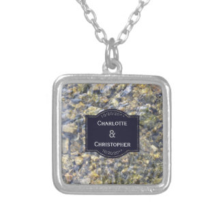 River Pebbles And Water Wedding Necklace